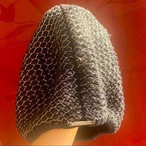 ALANNAH HILL beret black w silver threading